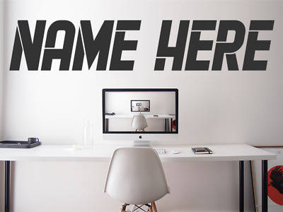 $ CDN34.63 • Buy ANY NAME PERSONALISED GAMERTAG Gaming Font Kids Wall Vinyl Decal Sticker V876