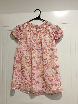AU18 • Buy Forever New Ruffle Top Pink Floral 6 XS Capped Sleeves
