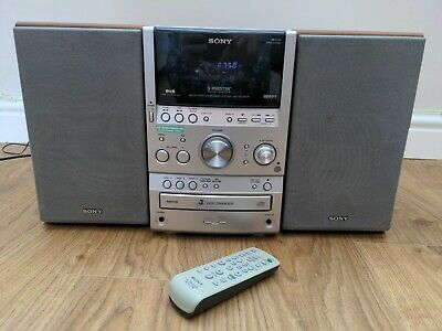 £69.99 • Buy Sony CMT-SPZ90DB Micro Hi-Fi DAB Stereo System 3 CD Changer Cassette + Remote