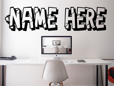 $ CDN34.63 • Buy ANY NAME PERSONALISED GAMERTAG GAMING Font Kids Wall Vinyl Decal Sticker V881