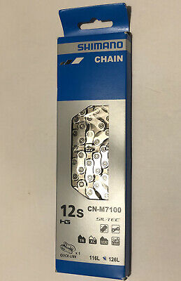 $45.99 • Buy Shimano SLX CN-M7100 12-Speed MTB Bicycle Chain 126L With Quick-Link - Silver