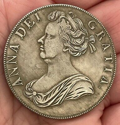 £1.20 • Buy 1706 Queen Anne Crown ~ Silver Plated Coin