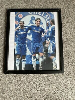 £10 • Buy Chelsea FC Fernando Torres And Ashley Cole Signed Print A4 Frame