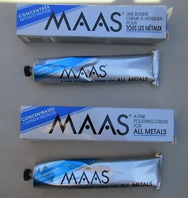$35 • Buy NOS MAAS Polishing Creme For All Metals 2 Tubes X 4 Oz. Each Tube New Old Stock