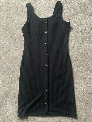 £0.99 • Buy Girls New Look Button Front Ribbed Dress Size 12/13