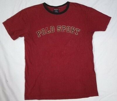 AU13.35 • Buy POLO SPORT RALPH LAUREN 01 NUMBER LOGO T SHIRT S M Spell Out