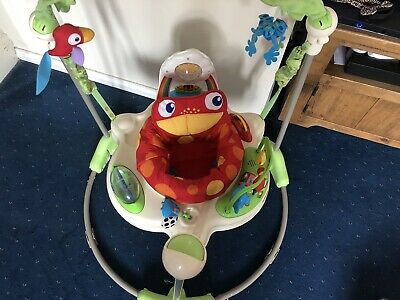 £30 • Buy Fisher Price Jumperoo Rainforest Bouncer Baby Toy Activity Jumping