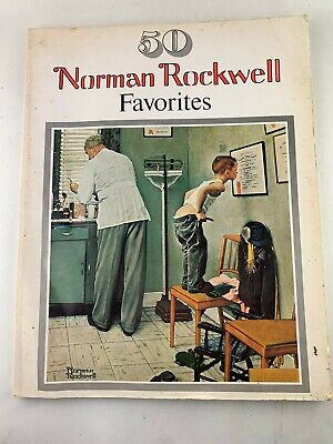 $ CDN15.11 • Buy 1977 50 Norman Rockwell Favorites Large Posters For Framing, Paperback, PB