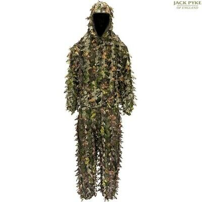 £54.99 • Buy Jack Pyke Llcs 3d Ghillie Concealment Suit Mens Jacket & Trousers Camo Hunting