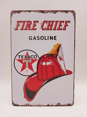 £8.72 • Buy Texaco Fire Chief Tin Sign Gas Oil Sign, Station, Garage, Auto Shop, Man Cave