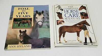 £14.18 • Buy Lot Of 2 Equine Books The Complete Horse Care Manual & Foal To Five Years