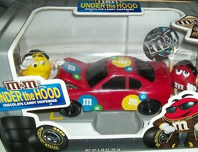 $45 • Buy M&M's Under The Hood Red Race Car M & M Racing Candy Dispenser Xmas Gift Rare