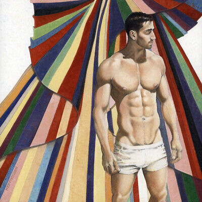 £860.15 • Buy Male Nude, COLORS, Oil On Cradled Panel