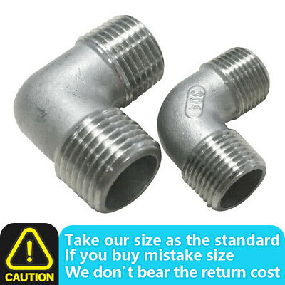 £3.20 • Buy Stainless Steel BSP Adapters,Male BSPP 90 Equal Elbow Hose Compressor Fittings