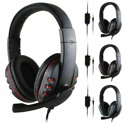 £6.95 • Buy Wired Headset Headhand Gaming Stereo Headphones Microphone For PS4/ XBOX-ONE/ PC