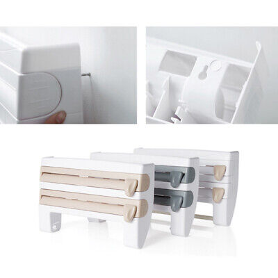 £8.29 • Buy Cling Film And Kitchen Foil Dispenser Paper Towel Roll Holder Wall Mounted Racks