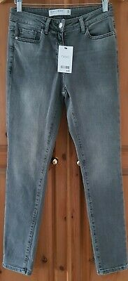 £19.25 • Buy Bnwt Ladies  Next  Grey Relaxed Skinny Mid Rise Jeans Size 8 Regular, W28
