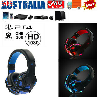 AU16.53 • Buy 3.5mm Gaming Headset MIC LED Headphones Stereo For PC Laptop PS4 Pro Xbox One