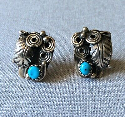 £40 • Buy Pair Of Vintage Native American Silver And Turquoise Earrings