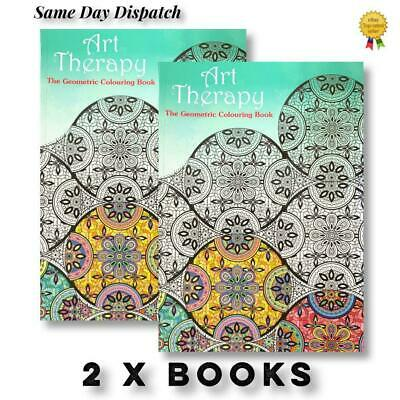 £5.20 • Buy 2 X A4 Adult Colouring Books Colour Therapy Patterns  Anti-Stress  Books NEW