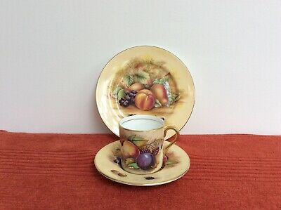 £16 • Buy Aynsley Orchard Gold Coffee Cup (N Brunt), Saucer (D. Jones) And Side Plate
