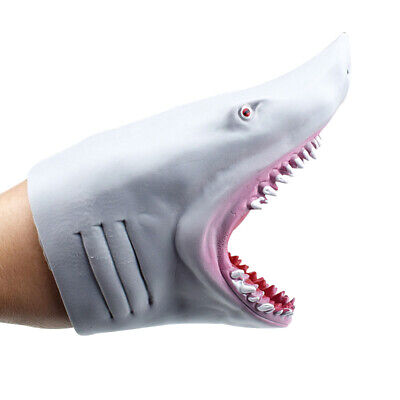 £6.69 • Buy Child  Silicone Hand Puppet Gloves Story Telling Shark  Soft Glove Fish Head Toy