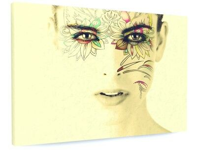 £72.70 • Buy Stunning Abstract Model Face Art Canvas Picture Print #3456