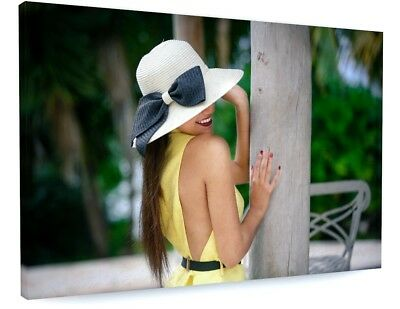 £23.47 • Buy Stunning Tropical Summer Holiday Model Canvas Picture Print #3646