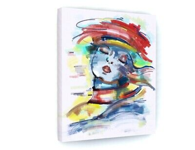 £15.98 • Buy Abstract Colourful Woman Model Canvas Picture Print Wall Art B877