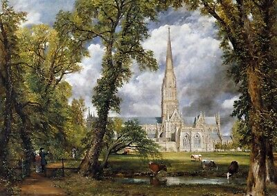 £16.89 • Buy John Constable Salisbury Cathedral Canvas Picture Poster Print Unframed A398