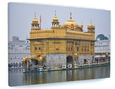 £15.98 • Buy Amritsar Golden Temple Canvas Picture Print Wall Art B764