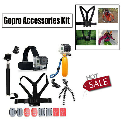 $ CDN26.30 • Buy GoPro Accessories Kit 6 5 4 Hero Session Action Camera Head Chest Strap Monopod