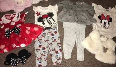 £4.50 • Buy Baby Girls 0-3 Months Minnie Mouse Bundle