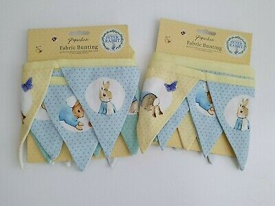 £7.50 • Buy Baby / Nursery / Baby Shower - PETER RABBIT BUNTING - Fabric - Paperchase BNWT