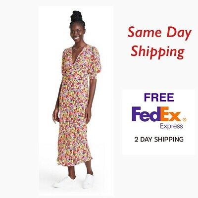AU133.61 • Buy RIXO For Target Floral Puff Sleeve Dress-Size-6-NWT