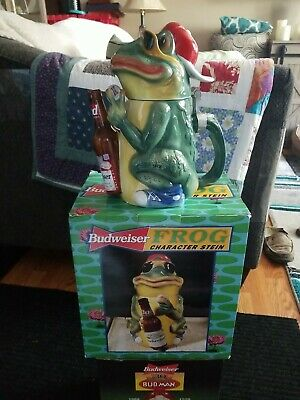 $ CDN37.09 • Buy Budweiser BUD FROG Character Stein 1996 Limited Edition #9473 / 10,000 ( LOOK )!