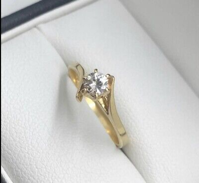 AU750 • Buy Val Handmade 18ct Yellow Gold Diamond Solitaire Ring