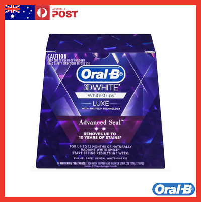 AU29.99 • Buy Oral-B 3D Advance Seal Teeth Whitening Strips - 14 Count
