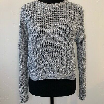 $18.93 • Buy Millau Womens Pullover Sweater Gray Marled Cropped Back Long Sleeve Jewel Neck S