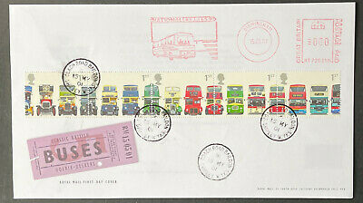 £3.50 • Buy 2001 Buses FDC With National Express Meter Mark And Coach Road CDS