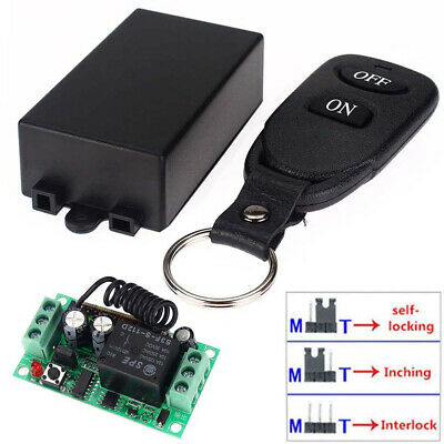 £8.38 • Buy 12V 10A Relay 1CH Wireless RF Remote Control Switch Transmitter + Receiver GL