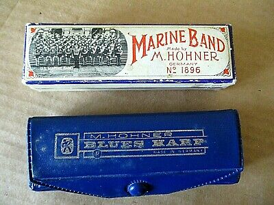 $10 • Buy 2 - VINTAGE HARMONICAS By M. HOHNER W/ CASE & INSTRUCTIONS
