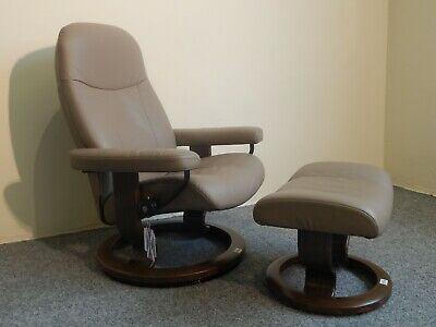 £695 • Buy Ekornes Stressless 'Garda' Leather Recliner And Stool Size Small (294)