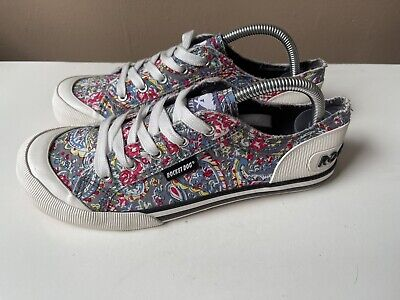 £15 • Buy ROCKET DOG Multicoloured Floral Textile Low Top Trainers Sneakers Size 7/40