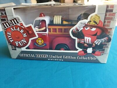 $10 • Buy M&M's Five Alarm Fun Red Fire Engine Candy Dispenser Limited Edition Collectible