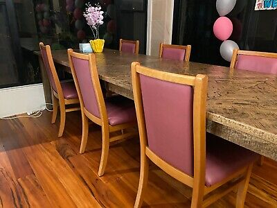 AU349 • Buy Janda Dining Chairs Leather X 6