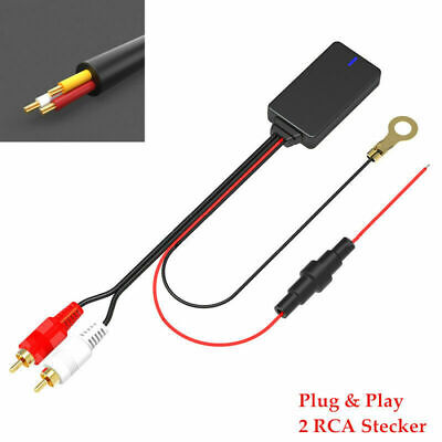$16 • Buy Car Bluetooth 5.0 Radio Stereo Audio Cable Adapter 2RCA Connector Music Aux Kit