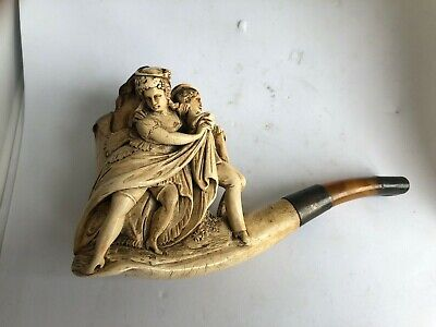 £85 • Buy Meerschaum Pipe Heavily Carved Classical Rare Good Moulded Bowl Classical Figure