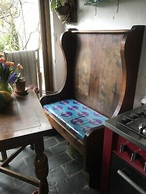 £50 • Buy Wooden Church Monks Pub Pew Chair Bench Settle