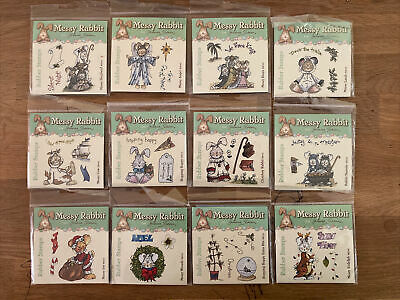£0.99 • Buy Messy Rabbit Christmas Themed Stamps !!JOB LOT!! By Joanna Sheen